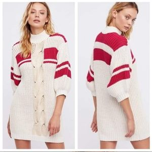 Free People Chunky Knit Sweater Dress